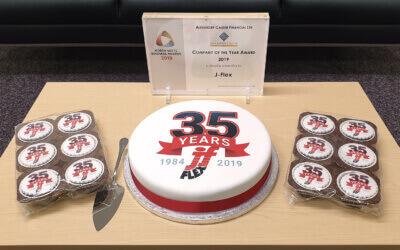 J-Flex celebrates 35 years!
