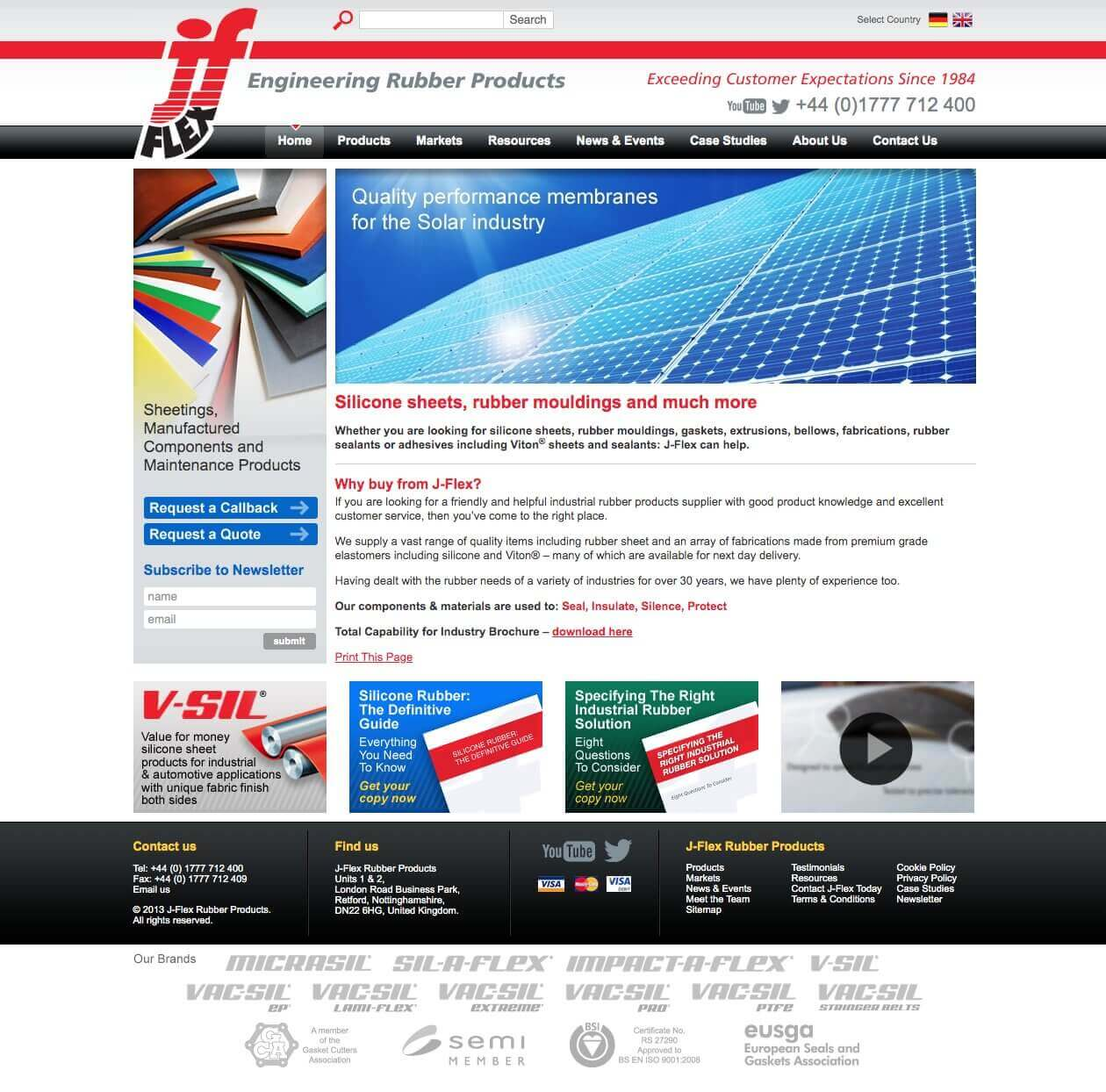 J-Flex website - early to mid 2010's