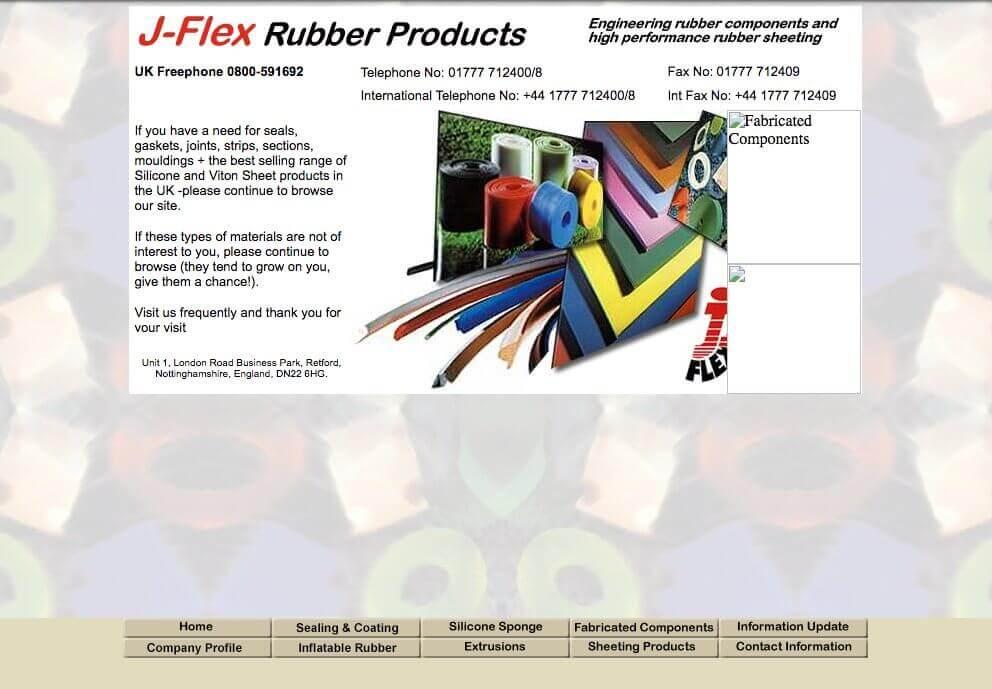 J-Flex website - early 2000's